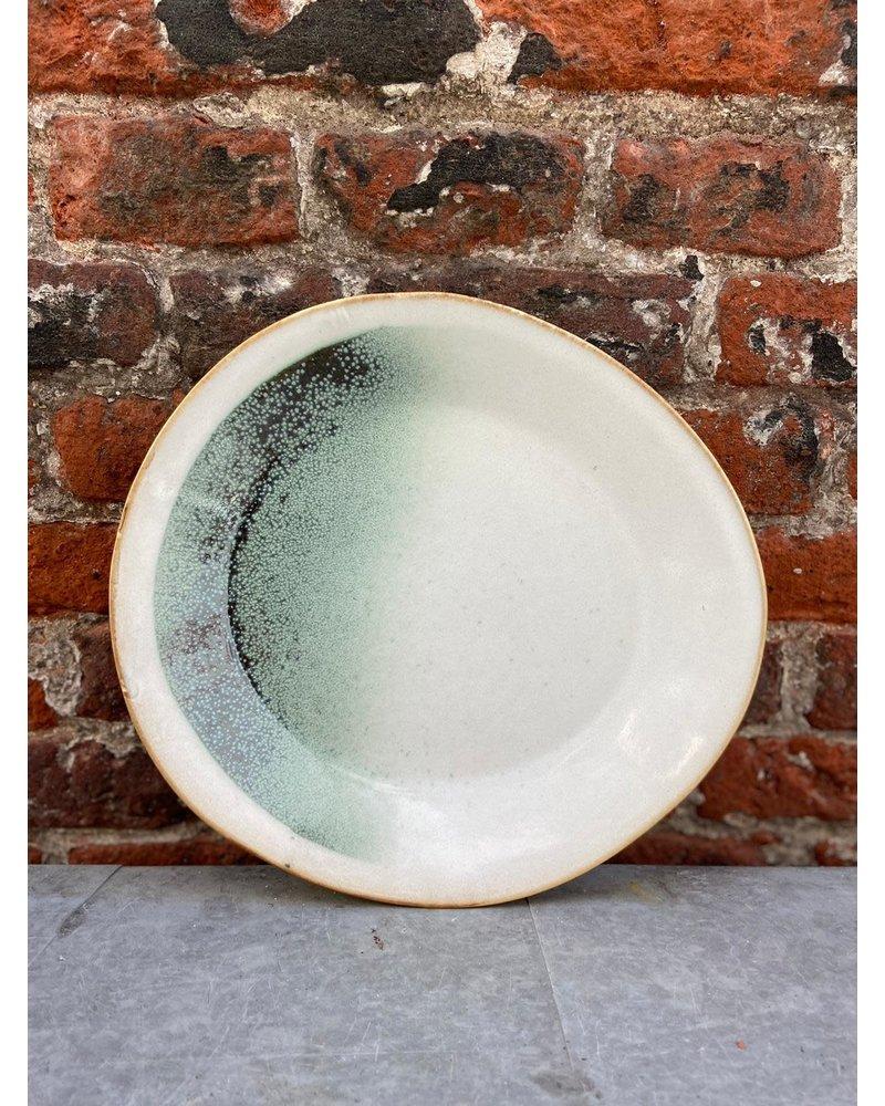 HK living HK living Ceramic 70's Side Plate ' Green Mist'