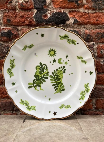 Bitossi Funky Table Dinner Plate 'Man & Woman'