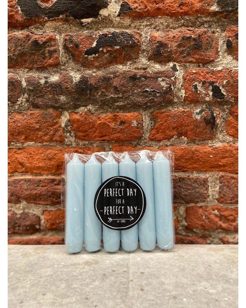 Rustik Lys Set van 6 Korte Kaarsjes 'Chalk'