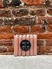 Rustik Lys Set van 6 Korte Kaarsjes 'Brique'