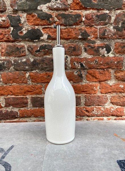 Jars Céramistes Tourron Oil Bottle 'Neige'