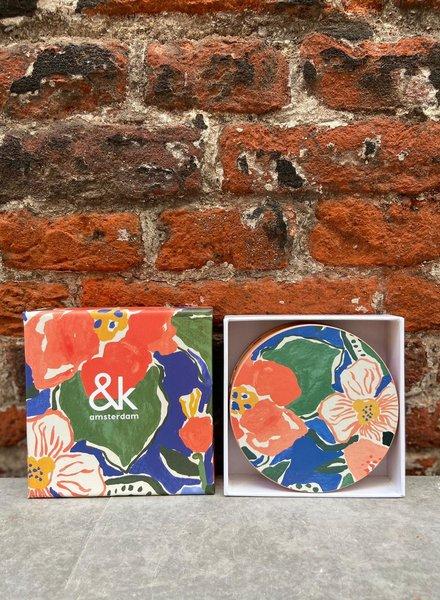&Klevering Coaster Margaret Floral Set/6