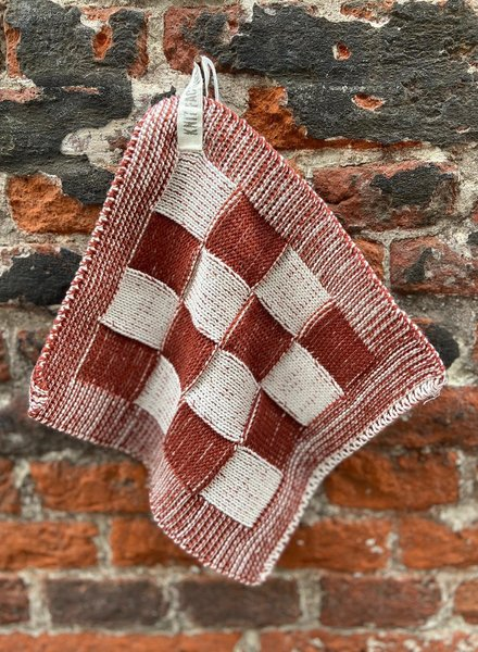 Knit Factory Pannenlap Block 'Ecru/Roest'