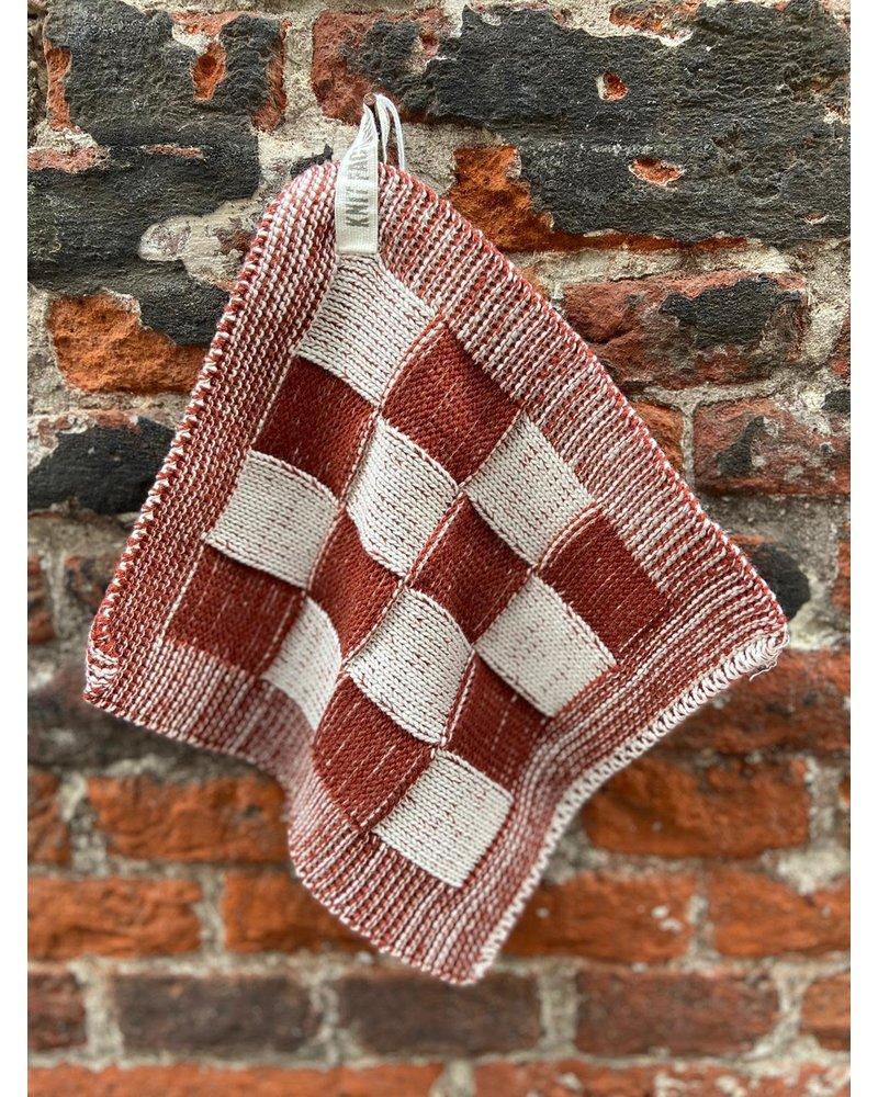 Knit Factory Knit Factory Pannenlap Block 'Ecru/Roest'