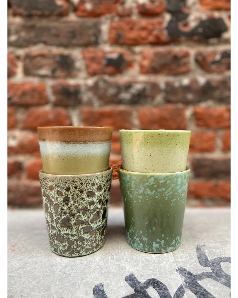 HK living HK living Ceramic 70's Mug  'Grass'