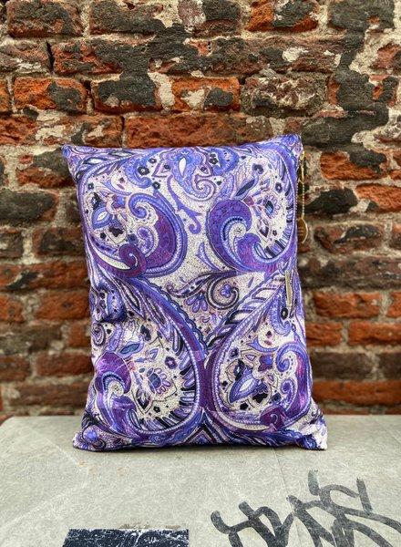 HK living Doris Printed Cushion 'Purple'
