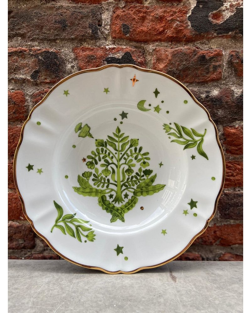 Bitossi Bitossi Funky Table Deep Plate 'Green Floral'