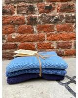Solwang Vaatdoekjes Set van 3 'Dusty Blue'