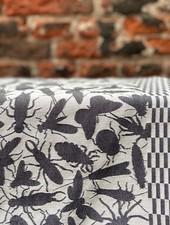 Theedoek Studio Job 'Insecten Zwart'