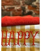 Bitossi Funky Table Tea Towel 'Happy'