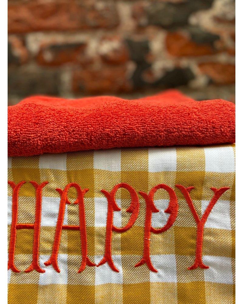 Bitossi Bitossi Funky Table Tea Towel 'Happy'