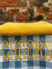 Bitossi Funky Table Tea Towel 'Cheers'
