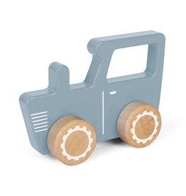 LITTLE DUTCH Holzspielzeug Traktor blau