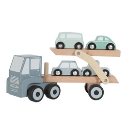 LITTLE DUTCH Holz Autotransporter LKW blau