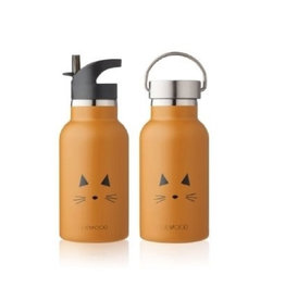 LIEWOOD Anker Water Bottle - Cat mustard