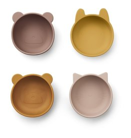 LIEWOOD Iggy Silicone Bowls - 4er Pack - Rose mix