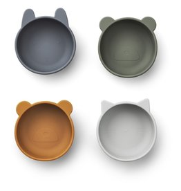 LIEWOOD Iggy Silicone Bowls - 4er Pack - Blue mix