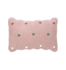 LÄSSIG  Kissen - Strick Dots -  Dusty Pink