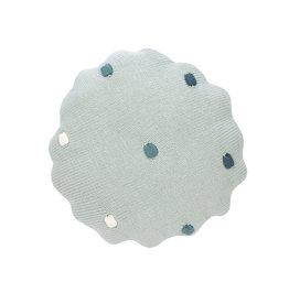 LÄSSIG  Kissen - Knitted Pillow, Dots Light Mint