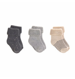 LÄSSIG  Babysocken (3er-Pack) - Newborn Socks, Grey