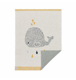 LÄSSIG  Babydecke - Little Water Whale