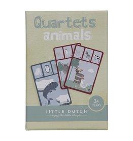 LITTLE DUTCH Quartett Kartenspiel - Tiere