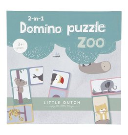 LITTLE DUTCH Domino Puzzle - Zoo 2-in-1