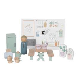 LITTLE DUTCH Erweiterungsset Puppenhaus - Küche 19-teilig