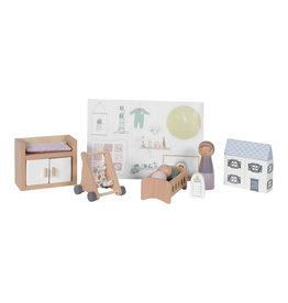 LITTLE DUTCH Puppenhaus Set - Babyzimmer 11-teilig