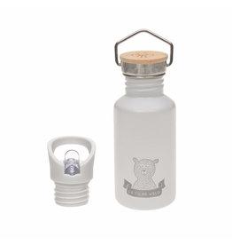 LÄSSIG  Kinder Trinkflasche Edelstahl - Bottle  Adventure Grau