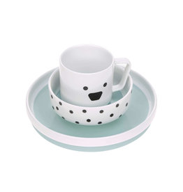 LÄSSIG  Kindergeschirr Set Porzellan - Dish Set, Little Chums Dog