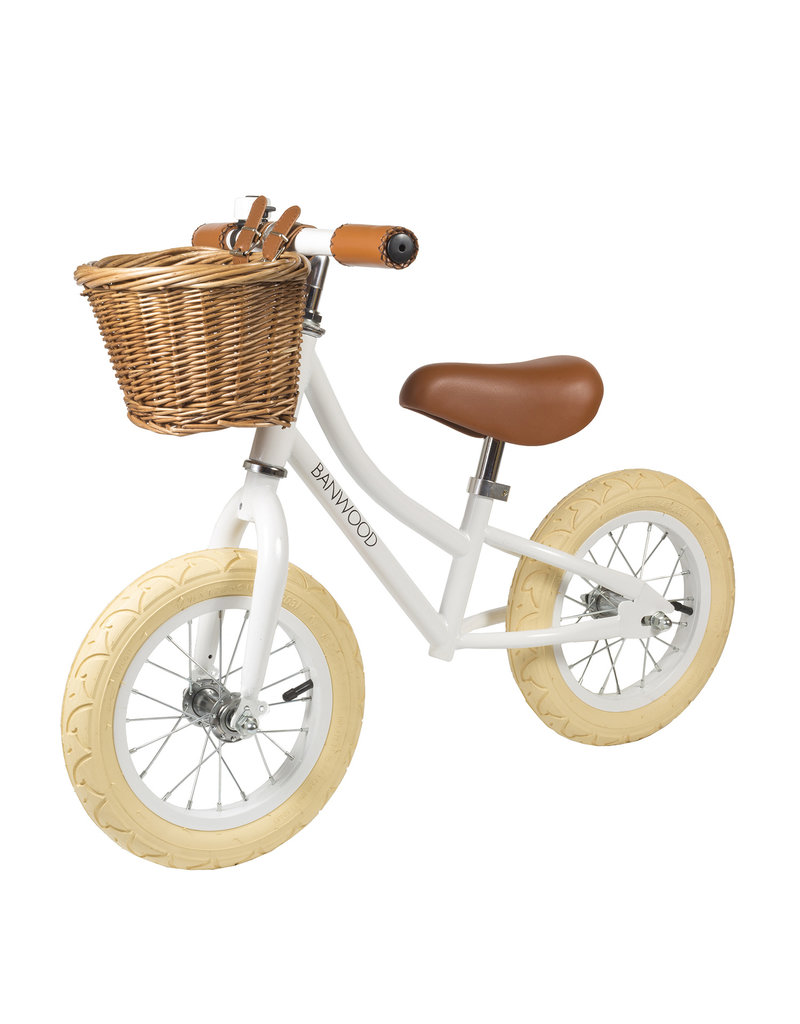 BANWOOD First GO! Balance Bike - White