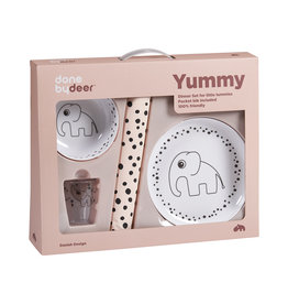 "DONE BY DEER Dinner-Set ""Happy Dots"", powder"