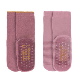LÄSSIG  Antirutsch-Socken (2er-Pack)  Rosewood