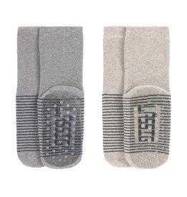 LÄSSIG  Antirutsch-Socken (2er-Pack) Grau/Beige