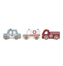LITTLE DUTCH Holz Einsatzfahrzeuge 3 Stück