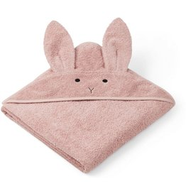 LIEWOOD Augusta Hodded Towel 'Rabbit rose'