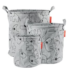 "DONE BY DEER Storage Bags 3 Stk. ""Contour Grey"""