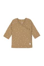 "LÄSSIG  Baby Wickelhemd - Kimono  Dots Curry""GOTS"""