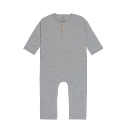"LÄSSIG  Baby Overall, Heather Grey Mélange""GOTS"""