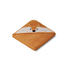 LIEWOOD Augusta Hooded Towel 'Fox' mustard
