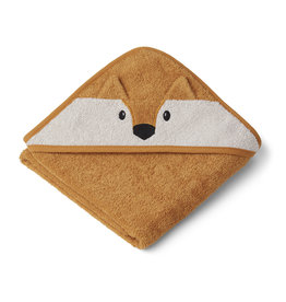 LIEWOOD Albert Hooded Towel 'Fox' mustard