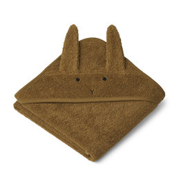 LIEWOOD Albert Hooded Towel 'Rabbit' olive green