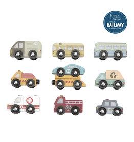 LITTLE DUTCH Little Railway Erweiterungs-Set Fahrzeuge