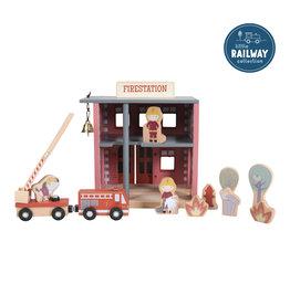 LITTLE DUTCH Little Railway Erweiterung 'Feuerwehrhaus'