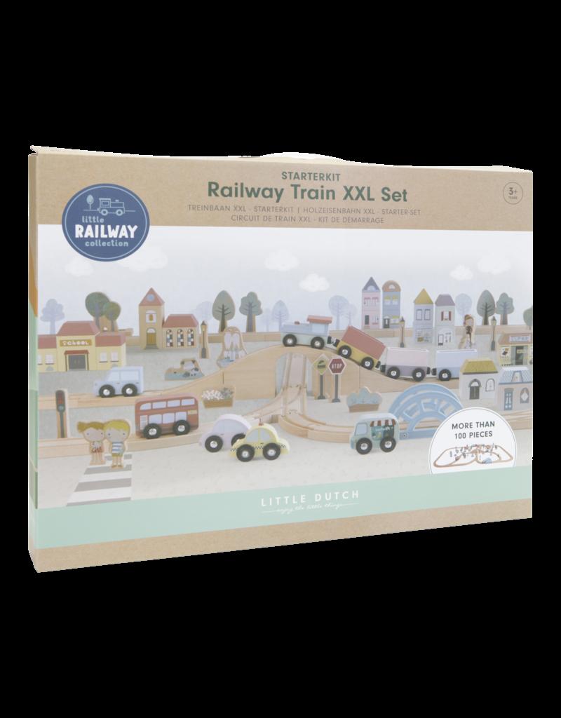 LITTLE DUTCH Little Railway Holzeisenbahn XXL 'Starter-Set'