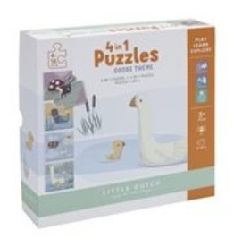 LITTLE DUTCH 4 in 1 Puzzle-Set Gans