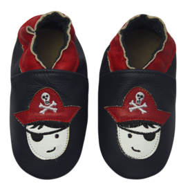 ROSE ET CHOCOLAT Lederpuschen 'Captain Hook' Navy