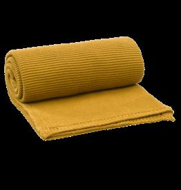 FRESK Gestrickte Decke  uni Mustard