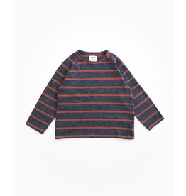 PLAY UP Pullover 'Striped Jersey Sweater' RASP